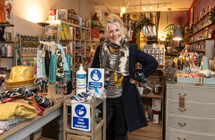 Laura Forsyth owner of the village trading store