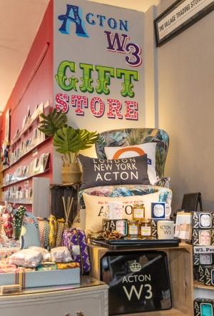 Acton W3 gift corner in Village Trading Shop