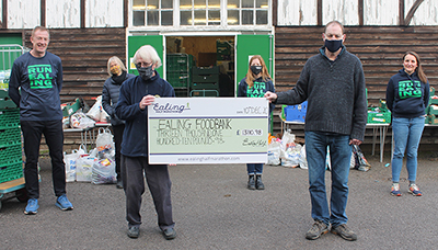 EHM Legacy raised money - more than £13,000 - for Ealing Foodbank