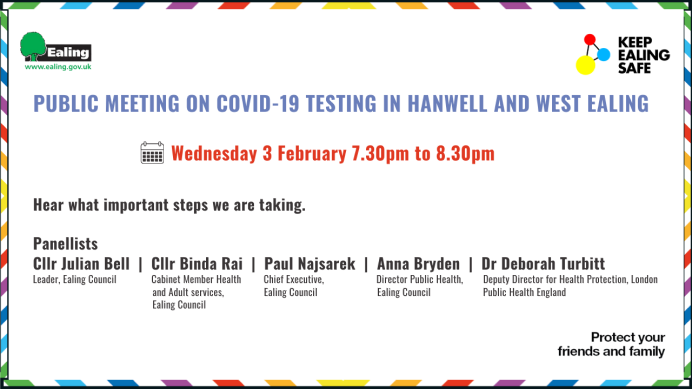 COVID-19 public meeting poster