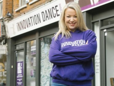 Emma Hardy outside Innovation Dance Studio