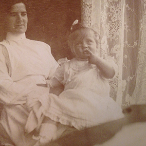 Nurse Mary Lyle with Harold's sister Violet