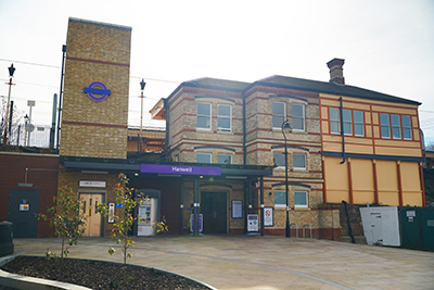 Hanwell Station Exterior - Campbell Road - improved forecourt