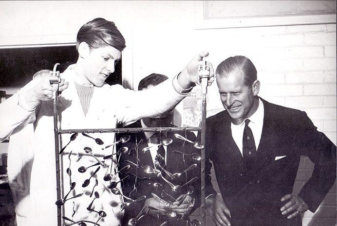 The Duke of Edinburgh visited the Tin Research Institute in Perivale