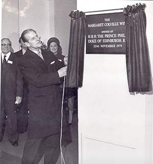 Duke of Edinburgh in 1979 opening the new wing of Cecil Court