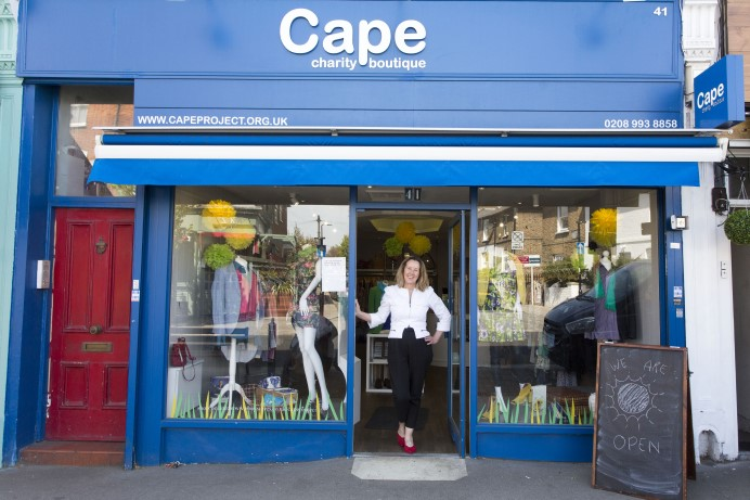 Patsy Richardson, the CAPE shop's non-executive director, outside the shop in Acton