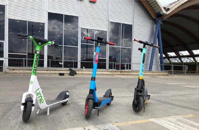 electronic scooters in the borough