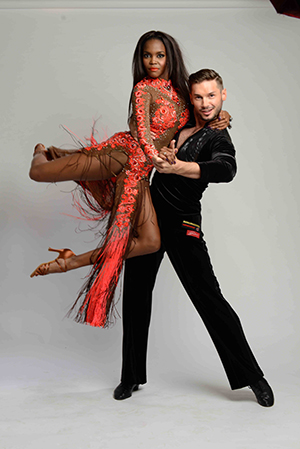 Oti Mabuse and husband Marius showing off their dance moves