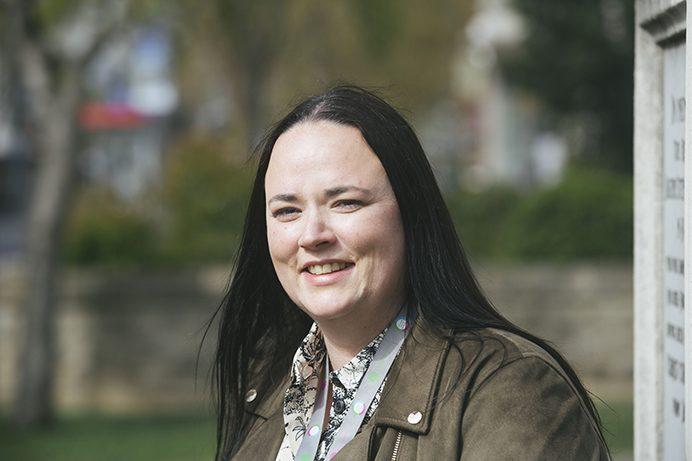 Natalie Burrage got a job at the council via an apprenticeship
