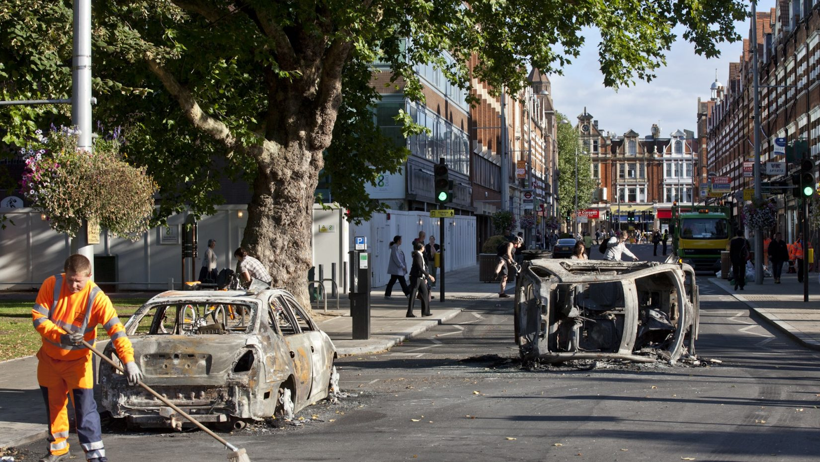 Aftermath of the riots in 2011